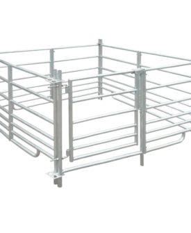 vidaXL fåreindhegning med 4 paneler galvaniseret stål 137×13 x92 cm