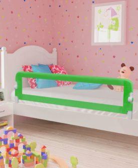 vidaXL sengegelænder til barneseng 150 x 42 cm grøn