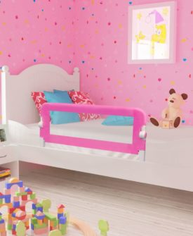 vidaXL sengegelænder til barneseng 102 x 42 cm pink