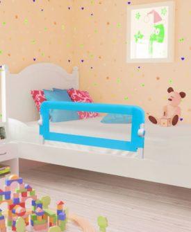 vidaXL sengegelænder til barneseng 102 x 42 cm blå
