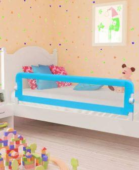vidaXL sengegelænder til barneseng 150 x 42 cm blå