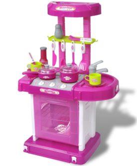 Børnelegesæt køkken med lys/lyd effekter pink