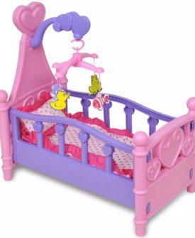 vidaXL seng til legetøjsdukke lyserød og lilla