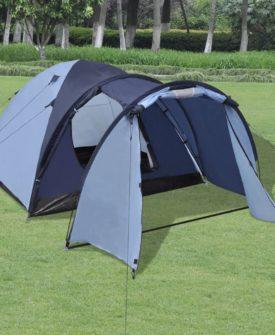 vidaXL 4-personers telt blå