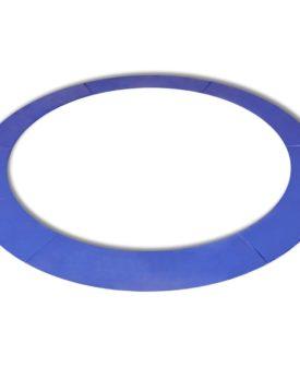 vidaXL Sikkerhedsmåtte PE blå til rund 12 fod/3,66 m trampolin