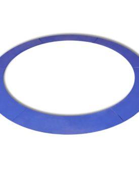 vidaXL sikkerhedsmåtte PE blå til rund 15 fod/4,57 m trampolin