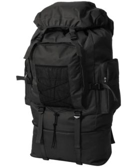 vidaXL rygsæk i army-style XXL 100 l sort