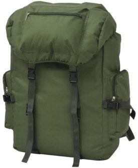 vidaXL Militærinspireret rygsæk 65 l grøn