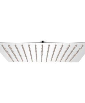 vidaXL Brusehoved rustfrit stål 25×25 cm firkantet