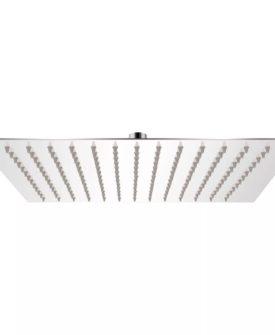 vidaXL brusehoved firkantet 30×30 cm rustfrit stål