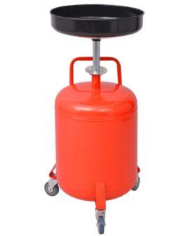 vidaXL dræner til spildolie 49,5 l stål rød