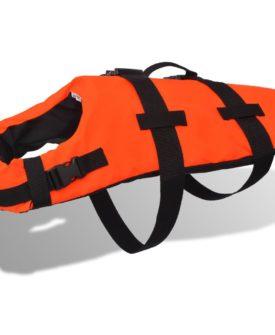 vidaXL redningsvest til hund S orange