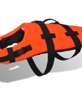 vidaXL redningsvest til hund M orange