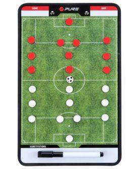 Pure2Improve dobbeltsidet trænertavle fodbold 35 x 22 cm P2I100680