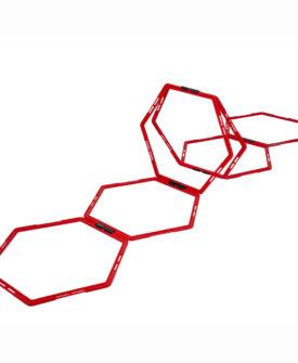Pure2Improve sekskantet adræthedsgitter 6 dele rød