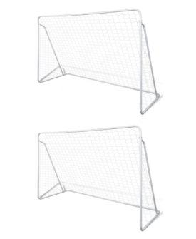 vidaXL fodboldmål 2 stk. 240 x 90 x 150 cm