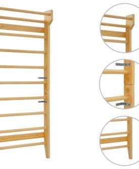 vidaXL ribbe 80 x 15,8 x 195 cm træ