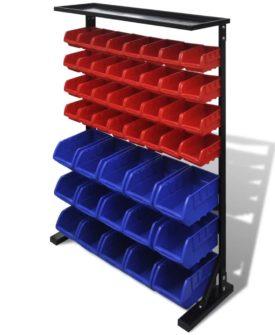 Blå & rød garage værktøjsorganisator
