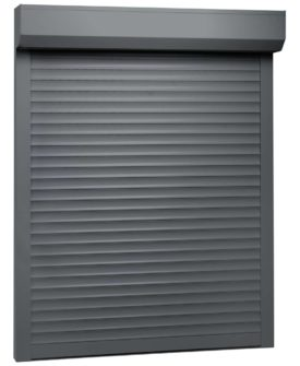 vidaXL rulleskodder aluminium 100 x 130 cm antracitgrå
