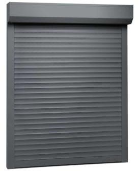 vidaXL rulleskodder aluminium 110 x 130 cm antracitgrå