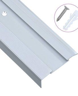 vidaXL 15 stk. trappelister L-facon 100 cm aluminium sølvfarvet