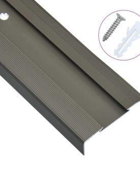 vidaXL 15 stk. trappelister L-facon 134 cm aluminium brun