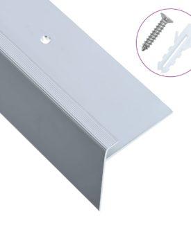 vidaXL 15 stk. trappelister F-facon 134 cm aluminium sølvfarvet