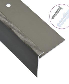 vidaXL 15 stk. trappelister F-facon 90 cm aluminium brun