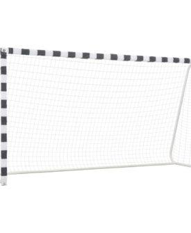 vidaXL fodboldmål 300 x 160 x 90 cm metal sort og hvid