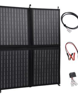 vidaXL foldbar solcelleoplader 80 W 12 V