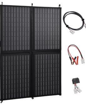 vidaXL foldbar lader til solpanel 100 W 12 V