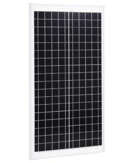 vidaXL solcellepanel 30 W polykrystallinsk aluminium og sikkerhedsglas