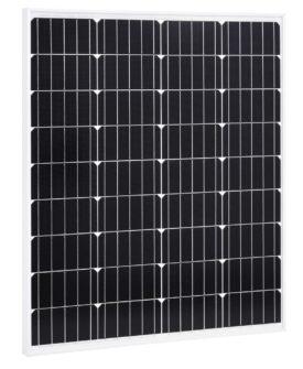 vidaXL solcellepanel 80 W aluminium og sikkerhedsglas