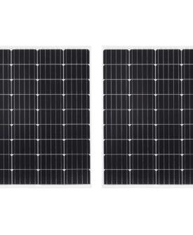vidaXL solcellepaneler 2 stk. 100 W aluminium og sikkerhedsglas