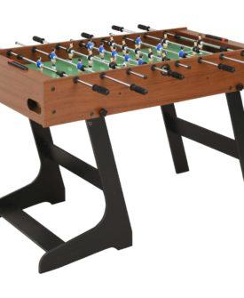 vidaXL foldbart bordfodboldbord 121 x 61 x 80 cm brun