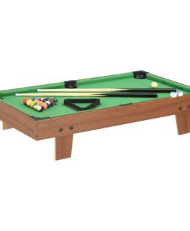 vidaXL mini-poolbord 92 x 52 x 19 cm brun og grøn