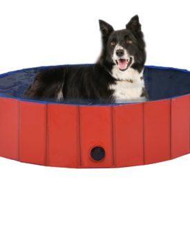 vidaXL foldbart hundebassin 120 x 30 cm PVC rød