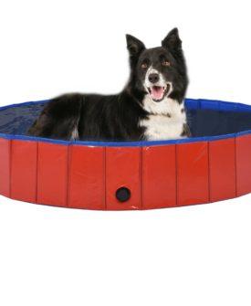vidaXL foldbart hundebassin 160 x 30 cm PVC rød