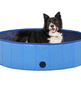 vidaXL foldbart hundebassin 120 x 30 cm PVC blå