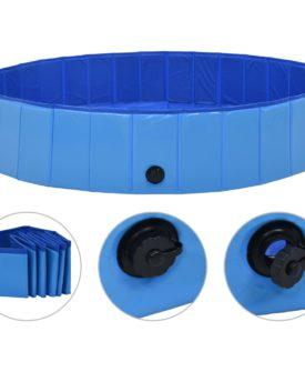 vidaXL foldbart hundebassin 160 x 30 cm PVC blå