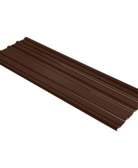 vidaXL tagpaneler 12 stk. galvaniseret stål brun
