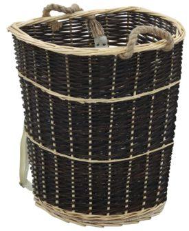 vidaXL bærerygsæk til brænde med håndtag 57 x 51 x 69 cm naturpil