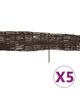 vidaXL bedafgrænsning af pil 5 stk. 120 x 35 cm