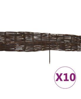 vidaXL bedafgrænsning af pil 10 stk. 120 x 35 cm