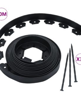 vidaXL fleksibel plænekant med 30 spyd 10 m 5 cm