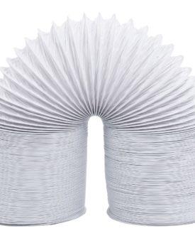 vidaXL udluftningsrør 6 m 10 cm PVC