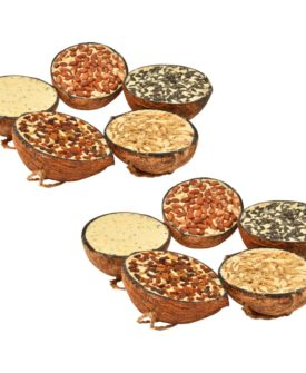 vidaXL fuglefoder 10 stk. fyldte halve kokosnødder 290 g