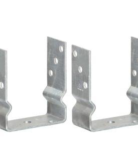 vidaXL jordankre 2 stk. 12x6x15 cm galvaniseret stål sølvfarvet